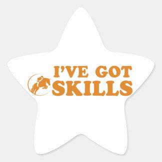 cool show jump designs star sticker