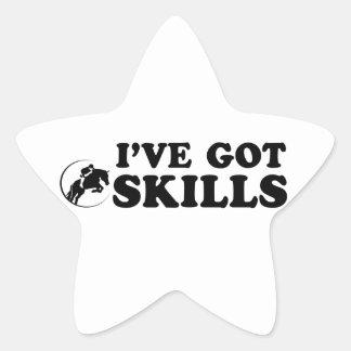 cool show jumping designs star sticker
