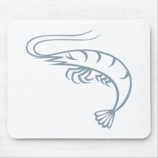 Cool Shrimp Icon Logo Shirt Prawn Mouse Pad