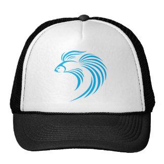 Cool Siamese Fish Swish Logo Icon Style Hats