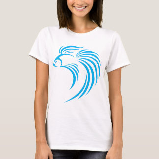 Cool Siamese Fish Swish Logo Icon Style T-Shirt