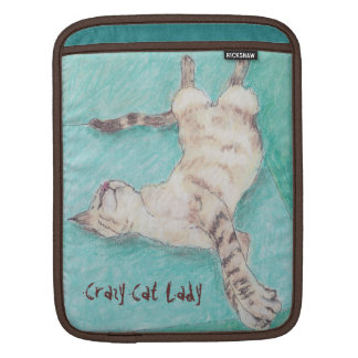 Cool Siamese Tabby Cat iPad Sleeve