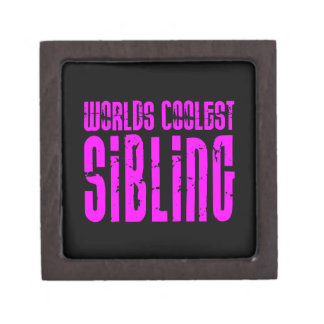 Cool Siblings + Pink : Worlds Coolest Sibling Premium Jewelry Box