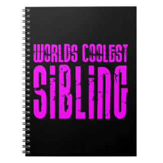 Cool Siblings + Pink : Worlds Coolest Sibling Spiral Notebook