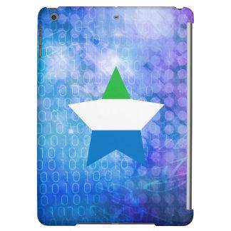 Cool Sierra Leone Flag Star Cover For iPad Air