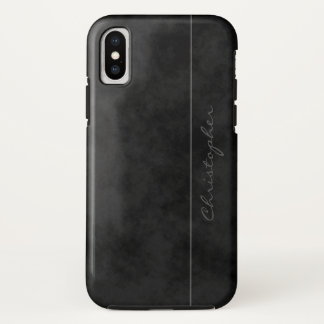 Cool Signature Mottled Black on iPhone X iPhone X Case