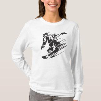 Cool Silhouette Snowboard Mountain T-Shirt