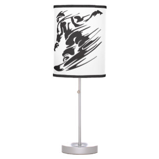 Cool Silhouette Snowboarding Mountain Lamp