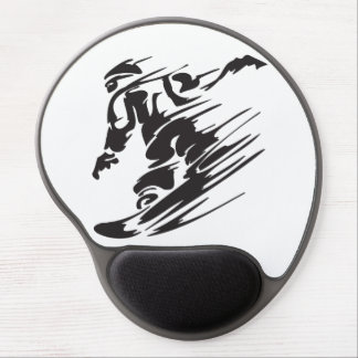 Cool Silhouette Snowboarding Mountain Mousepad Gel Mouse Pad