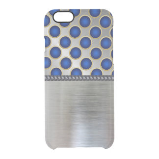 Cool Silver 3D Blue Pattern iPhone Clear Case Uncommon Clearly™ Deflector iPhone 6 Case