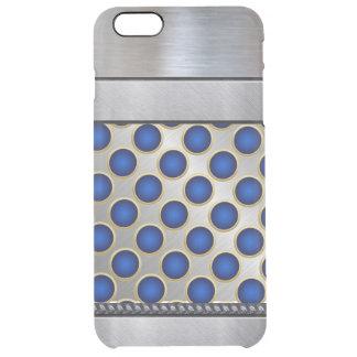 Cool Silver 3D Blue Pattern iPhone Plus Case