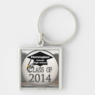 Cool Silver Class Of 2014 Premium Keychain