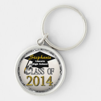 Cool Silver & Gold Class Of 2014 Premium Keychain