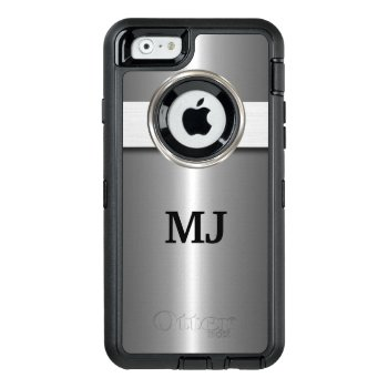 Cool Silver Metallic Look Otterbox Defender Iphone Case by idesigncafe at Zazzle