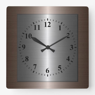 stainless steel wall clocks zazzle. Black Bedroom Furniture Sets. Home Design Ideas