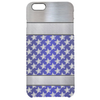 Cool Silver Stars 3D Blue Pattern iPhone Plus Case
