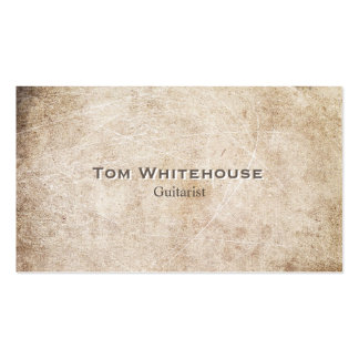 Cool Simple Aged Rustic Vintage Beige Stone Double-Sided Standard Business Cards (Pack Of 100)