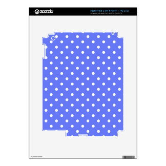 cool simple blue and white polka dots. iPad 3 decal