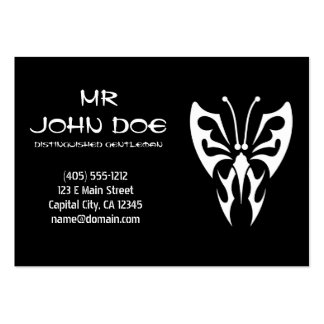 Cool simple elegant black white tribal tattoo ink large business cards (Pack of 100)