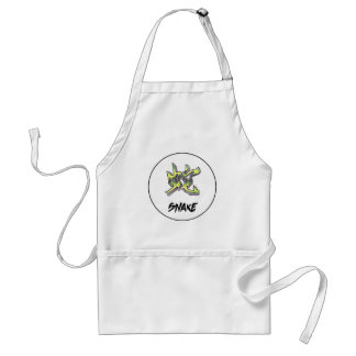 Cool Simple Elegant Chinese Zodiac Sign Snake Adult Apron