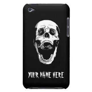 Cool Simple Elegant Classic Black White Skull iPod Touch Case