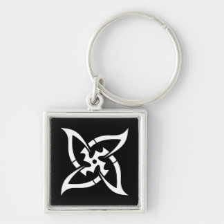 Cool Simple Elegant Classic Black White Tribal Keychain