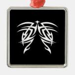 Cool Simple Elegant Classic Black White Tribal Ornament
