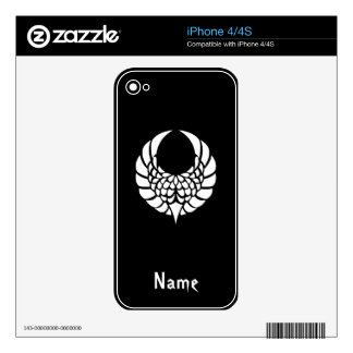 Cool Simple Elegant Classic Black White Tribal iPhone 4S Decal
