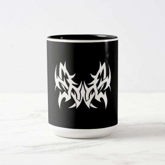 Cool Simple Elegant Classic Black White Tribal Two-Tone Coffee Mug