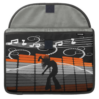 Cool Singer Dancer Silhouette & Graphic Equalizer Sleeve For MacBook Pro