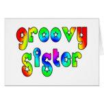 Cool Sisters Birthdays Christmas : Groovy Sister Greeting Card