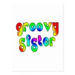 Cool Sisters Birthdays Christmas : Groovy Sister Postcards