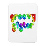 Cool Sisters Birthdays Christmas : Groovy Sister Vinyl Magnet