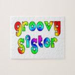 Cool Sisters Birthdays Christmas : Groovy Sister Jigsaw Puzzle