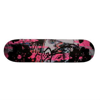 Cool skateboard with dark grunge graffiti graphics