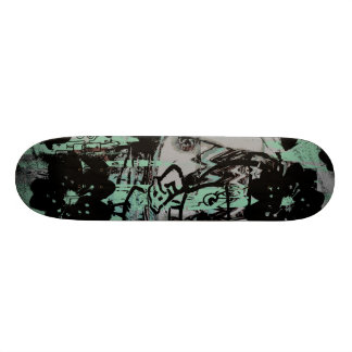 Cool skateboard with dark grunge graphics