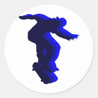 Cool Skateboarder motion design Classic Round Sticker