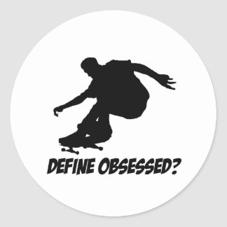 Cool Skateboarding designs Classic Round Sticker