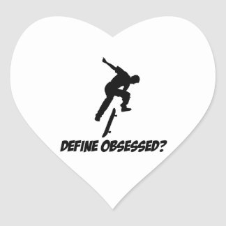 Cool Skateboarding designs Heart Sticker