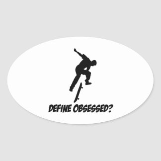 Cool Skateboarding designs Oval Sticker