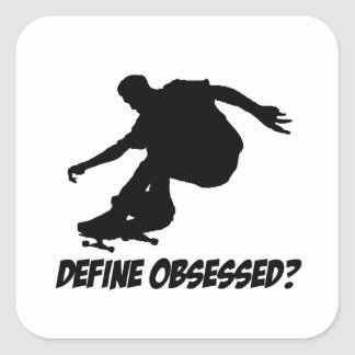 Cool Skateboarding designs Square Sticker