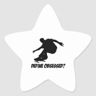Cool Skateboarding designs Star Sticker