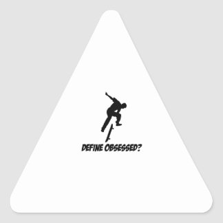 Cool Skateboarding designs Triangle Sticker