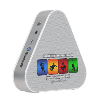 Cool Skateboarding It Is A Way Of Life Bluetooth Speaker
