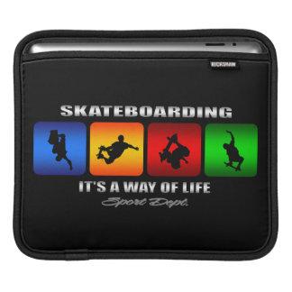 Cool Skateboarding It Is A Way Of Life iPad Sleeves