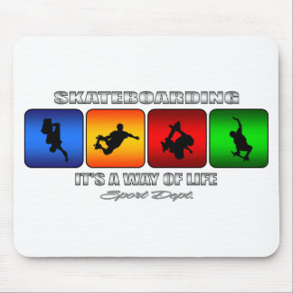 Cool Skateboarding It Is A Way Of Life Mouse Pad