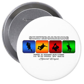 Cool Skateboarding It Is A Way Of Life Pinback Button