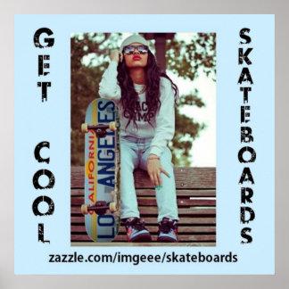 Cool Skateboards Poster