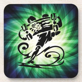 Cool Skater; Skateboarder Coaster