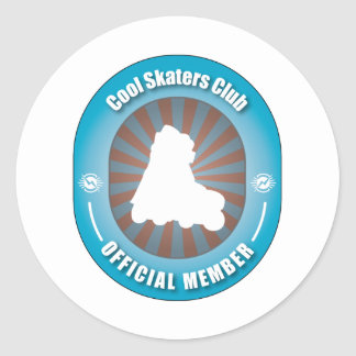 Cool Skaters Club Classic Round Sticker